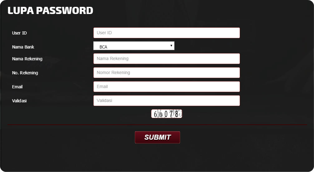 bantuan lupa password judi online
